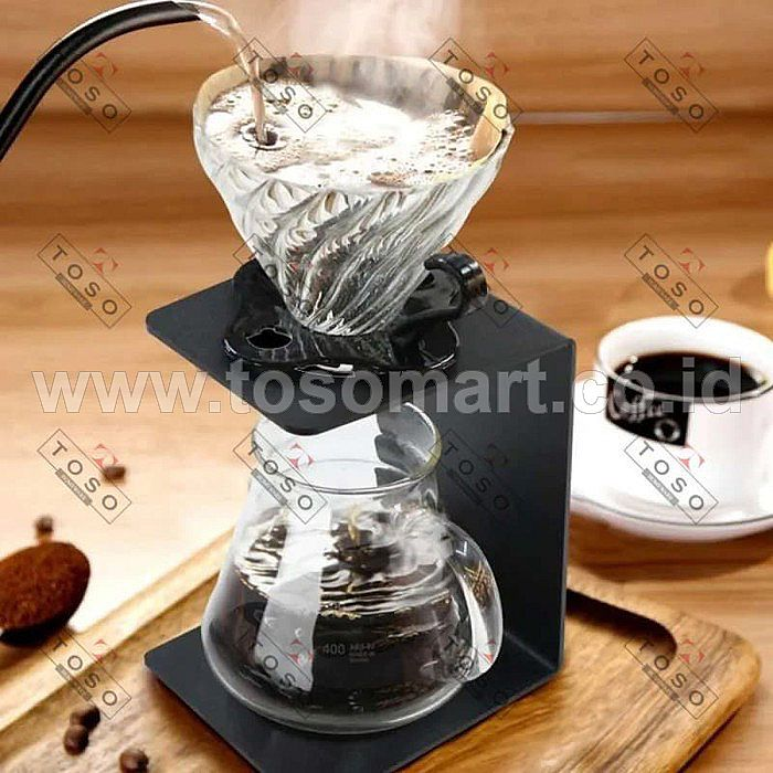 V60 Coffee Dripper Stand Metal Pour Over Drip Station Kopi Rack Single